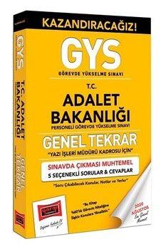 Yargı Yayınları GYS Adalet Bakanlığı Yazı İşleri Kadrosu İçin Genel Tekrar