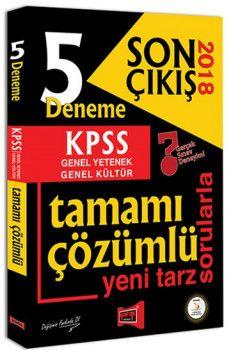 Yargı Yayınları 2018 KPSS Genel Yetenek Genel Kültür Son Çıkış Tamamı Çözümlü 5 Deneme