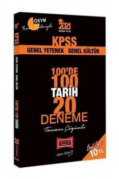 Yargı Yayınları 2021 KPSS Tarih 100 de 100 Tamamı Çözümlü 20 Deneme