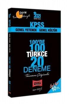 Yargı Yayınları 2021 KPSS Türkçe 100 de 100 Tamamı Çözümlü 20 Deneme
