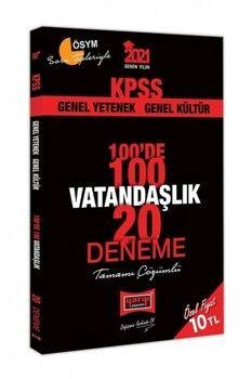 Yargı Yayınları 2021 KPSS Vatandaşlık 100 de 100 Tamamı Çözümlü 20 Deneme