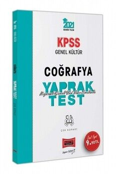 Yargı Yayınları 2021 KPSS Genel Kültür Coğrafya Çek Kopart Yaprak Test
