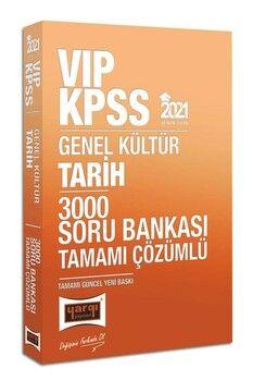 Yargı Yayınları 2021 KPSS Tarih VIP Tamamı Çözümlü 3000 Soru Bankası