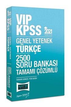 Yargı Yayınları 2021 KPSS Türkçe VIP Tamamı Çözümlü 2500 Soru Bankası