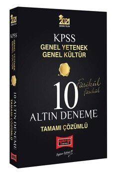 Yargı Yayınları 2021 KPSS Genel Yetenek Genel Kültür Tamamı Çözümlü 10 Altın Fasikül Deneme