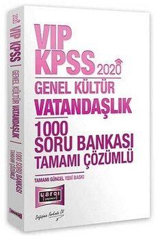 Yargı Yayınları 2020 KPSS Vatandaşlık VIP Tamamı Çözümlü 1000 Soru Bankası