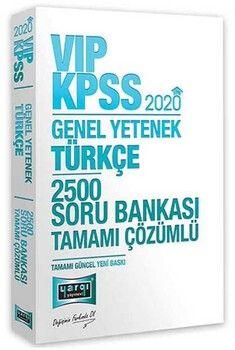 Yargı Yayınları 2020 KPSS Türkçe VIP Tamamı Çözümlü 2500 Soru Bankası