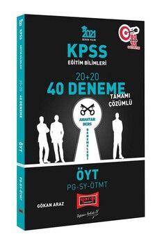 Yargı Yayınları 2021 KPSS Eğitim Bilimleri ÖYT PG SY ÖTMT Tamamı Çözümlü 40 Deneme