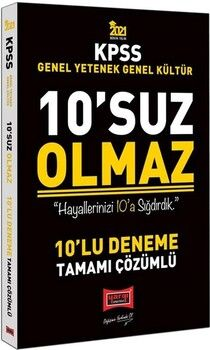 Yargı Yayınları2021 KPSS Genel Yetenek Genel Kültür 10'suz Olmaz Tamamı Çözümlü 10 Deneme
