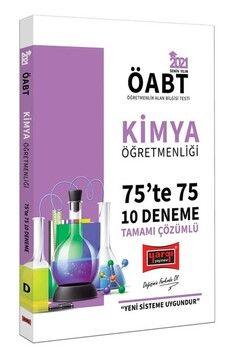 Yargı Yayınları 2021 ÖABT Kimya Öğretmenliği 75 te 75 Tamamı Çözümlü 10 Deneme Sınavı
