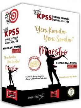 Yargı Yayınları 2019 KPSS Genel Yetenek Genel Kültür Maestro Konu Anlatımlı Modüler Set