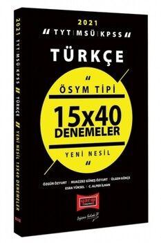 Yargı Yayınları 2021 TYT MSÜ KPSS Türkçe ÖSYM Tipi 15x40 Denemeler