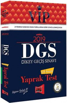 Yargı Yayınları 2019 DGS VİP Çek Kopartlı Yaprak Test