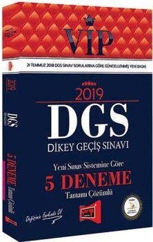 Yargı Yayınları 2019 DGS VİP Yeni Sınav Sistemine Göre Tamamı Çözümlü 5 Deneme