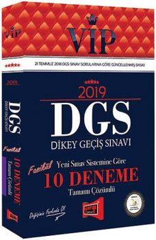 Yargı Yayınları 2019 DGS VİP Yeni Sınav Sistemine Göre Tamamı Çözümlü 10 Fasikül Deneme