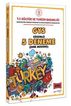 Yargı Yayınları GYS T.C. Kültür ve Turizm Bakanlığı Şube Müdürü İçin Çözümlü 5 Deneme