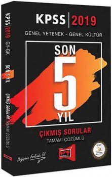 Yargı Yayınları 2019 KPSS Genel Yetenek Genel Kültür Son 5 Yıl Tamamı Çözümlü Çıkmış Sorular