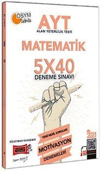 Yargı Yayınları 2021 AYT Matematik 5x40 Motivasyon Deneme Sınavı