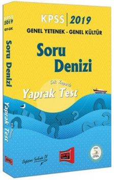 Yargı Yayınları 2019 KPSS Genel Yetenek Genel Kültür Soru Denizi Çek Kopartlı Yaprak Test