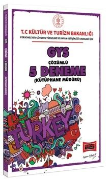 Yargı Yayınları GYS T.C. Kültür ve Turizm Bakanlığı Kütüphane Müdürü İçin Çözümlü 5 Deneme