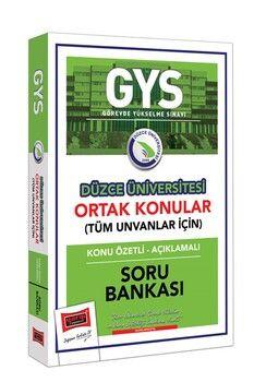 Yargı Yayınları GYS Düzce Üniversitesi Ortak Konular Konu Özetli Açıklamalı Soru Bankası