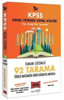 Yargı Yayınları 2021 KPSS Genel Yetenek Genel Kültür Kamp Kitabı 92 Tarama Tamamı Çözümlü Soru Bankası