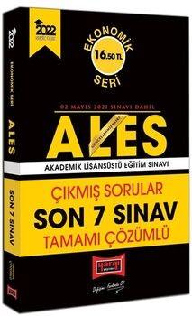 Yargı Yayınları 2022 ALES Ekonomik Seri Tamamı Çözümlü Çıkmış Sorular Son 7 Sınav