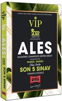 Yargı Yayınları 2022 ALES VIP Tamamı Çözümlü Çıkmış Sorular Fasikül Fasikül Son 5 Sınav