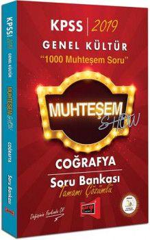 Yargı Yayınları 2019 KPSS Muhteşem Show Coğrafya Tamamı Çözümlü Soru Bankası