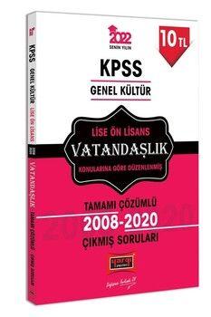 Yargı Yayınları 2022 KPSS GK Lise Ön Lisans Vatandaşlık Tamamı Çözümlü Çıkmış Sorular