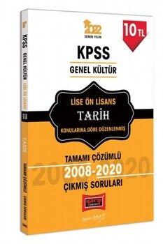 Yargı Yayınları 2022 KPSS GK Lise Ön Lisans Tarih Tamamı Çözümlü Çıkmış Sorular