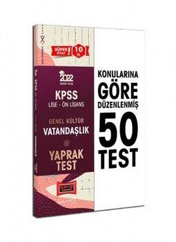 Yargı Yayınları 2022 KPSS Lise Ön Lisans Genel Kültür Vatandaşlık Yaprak Test