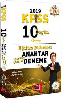 Yargı Yayınları 2019 KPSS Eğitim Bilimleri Tamamı Çözümlü 10 Özgün Anahtar Deneme