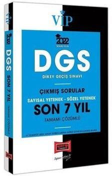 Yargı Yayınları 2022 VİP DGS Sayısal Yetenek Sözel Yetenek Son 7 Yıl Tamamı Çözümlü Çıkmış Sorular