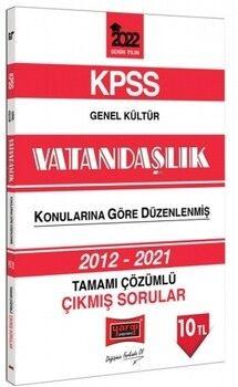 Yargı Yayınları 2022 KPSS Genel Kültür Vatandaşlık Tamamı Çözümlü Çıkmış Sorular
