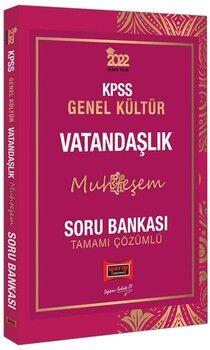 Yargı Yayınları 2022 KPSS Genel Kültür Muhteşem Vatandaşlık Tamamı Çözümlü Soru Bankası