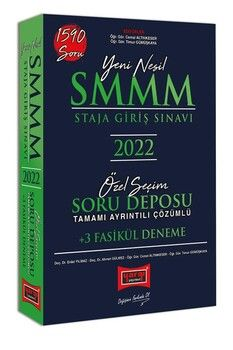 Yargı Yayınları 2022 SMMM Staja Giriş Sınavı Tamamı Ayrıntılı Çözümlü Özel Seçim Soru Deposu +3 Fasikül Deneme