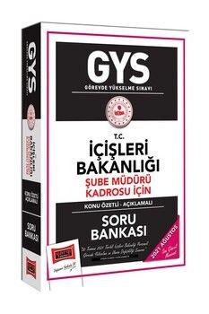 Yargı Yayınları GYS T.C İçişleri Bakanlığı Şube Müdürü Kadrosu İçin Konu Özetli Soru Bankası
