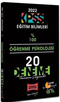 Yargı Yayınları 2022 KPSS Eğitim Bilimleri Öğrenme Psikolojisi Tamamı Çözümlü 20 Deneme