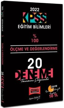 Yargı Yayınları 2022 KPSS Eğitim Bilimleri Ölçme Ve Değerlendirme Tamamı Çözümlü 20 Deneme