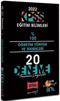 Yargı Yayınları 2022 KPSS Eğitim Bilimleri Öğretim Yöntem ve Teknikleri Tamamı Çözümlü 20 Deneme
