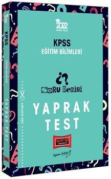 Yargı Yayınları 2022 KPSS Eğitim Bilimleri Soru Denizi Yaprak Test