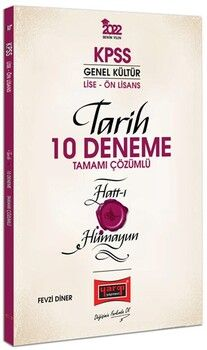 Yargı Yayınları 2022 KPSS Lise Ön Lisans Genel Kültür Hatt-ı Hümayun Tarih Tamamı Çözümlü 10 Deneme
