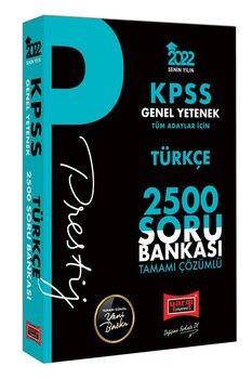 Yargı Yayınları 2022 KPSS Genel Yetenek Türkçe Prestij Seri Tamamı Çözümlü 2500 Soru Bankası