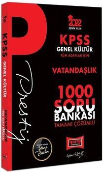 Yargı Yayınları2022 KPSS Genel Kültür Vatandaşlık Prestij Seri Tamamı Çözümlü 1000 Soru Bankası