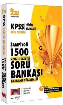 Yargı Yayınları 2022 KPSS Eğitim Bilimleri Tüm Dersler Şampiyon 1500 Tamamı Çözümlü Konu Özetli Soru Bankası