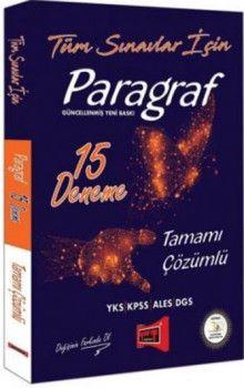 Yargı Yayınları Tüm Sınavlar İçin Paragraf Tamamı Çözümlü 15 Deneme