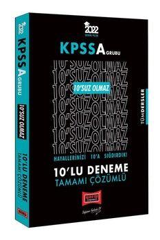 Yargı Yayınları 2022 KPSS A Grubu Tüm Dersler 10 SUZ Olmaz Tamamı Çözümlü 10 Deneme