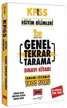 Yargı Yayınları 2022 KPSS Eğitim Bilimleri Tamamı Çözümlü Genel Tekrar Tarama Sınavı Kitabı