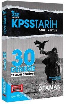 Yargı Yayınları 2022 KPSS Genel Kültür Tarih Ataman Tamamı Çözümlü 30 Deneme